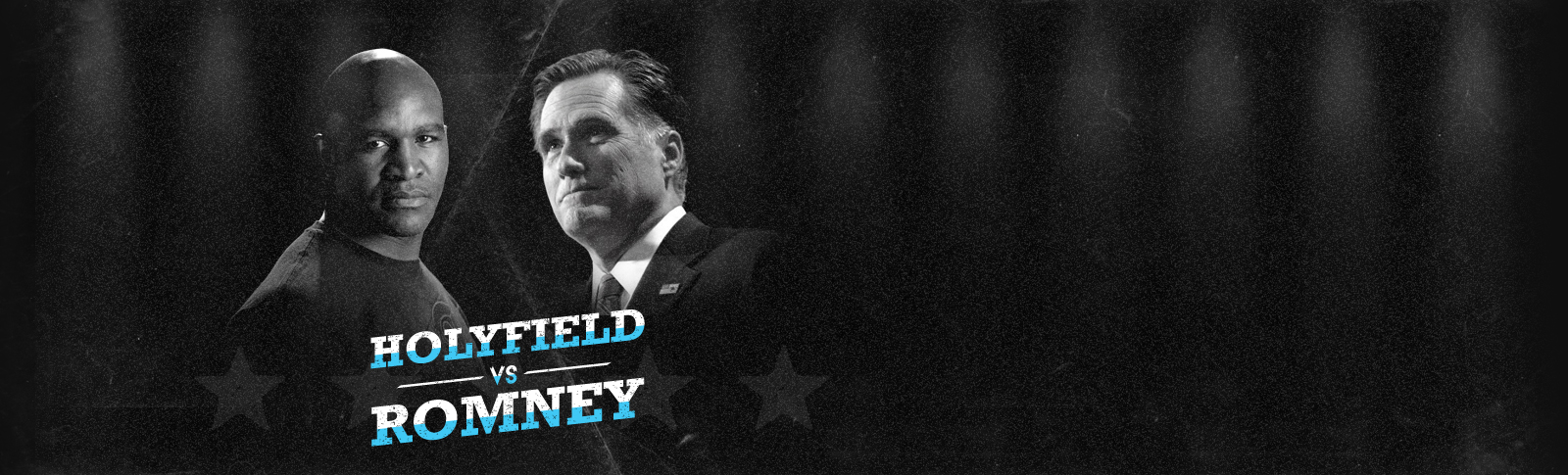 Mitt Romney and Evander Holyfield