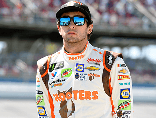 Win a trip to the Memorial Day weekend race and Hooters International Pageant in Charlotte and meet NASCAR driver Chase Elliott