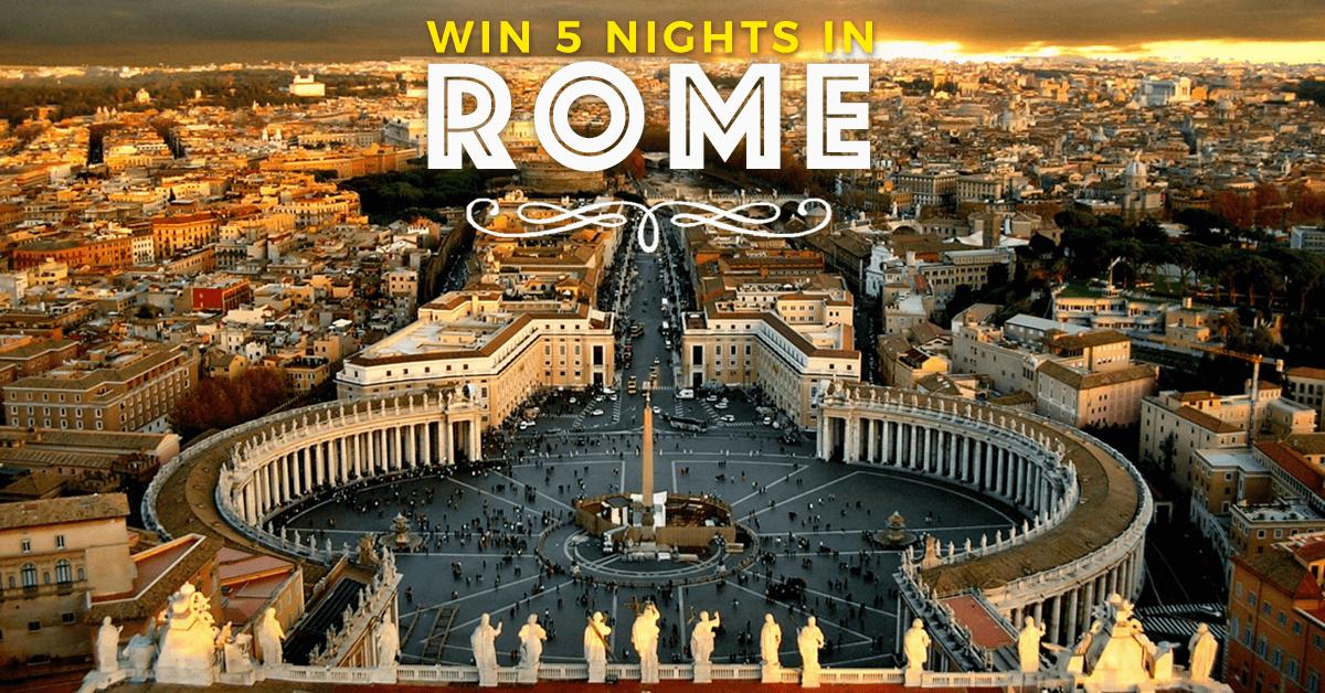 Win 5 Nights In Rome And Explore The Vatican Sistine Chapel
