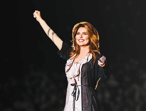 Win Win a trip to Australia to meet Shania Twain backstage at her concert